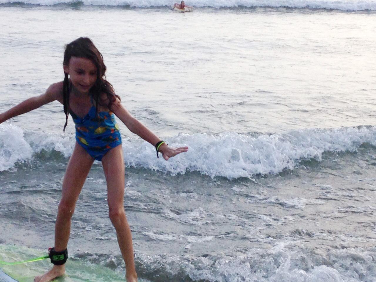 maddie fun surfing