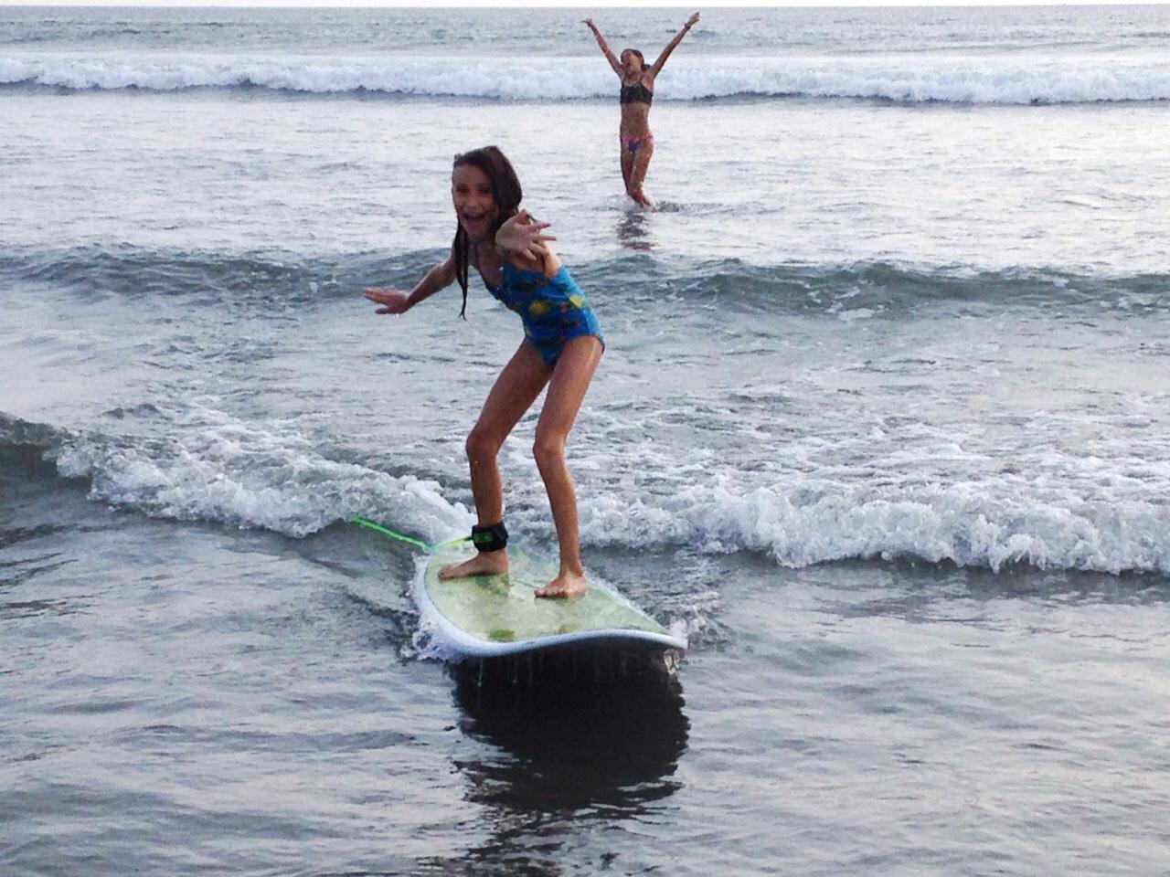 maddie surfing